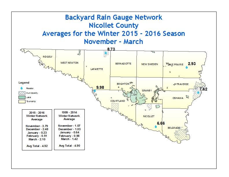 2015 - 2016 Winter Precipitation Totals